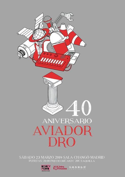 Cartel concierto de Aviador Drs