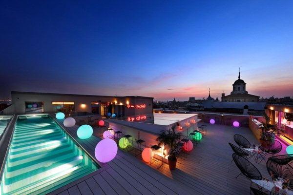 Piscinas hotel Madrid