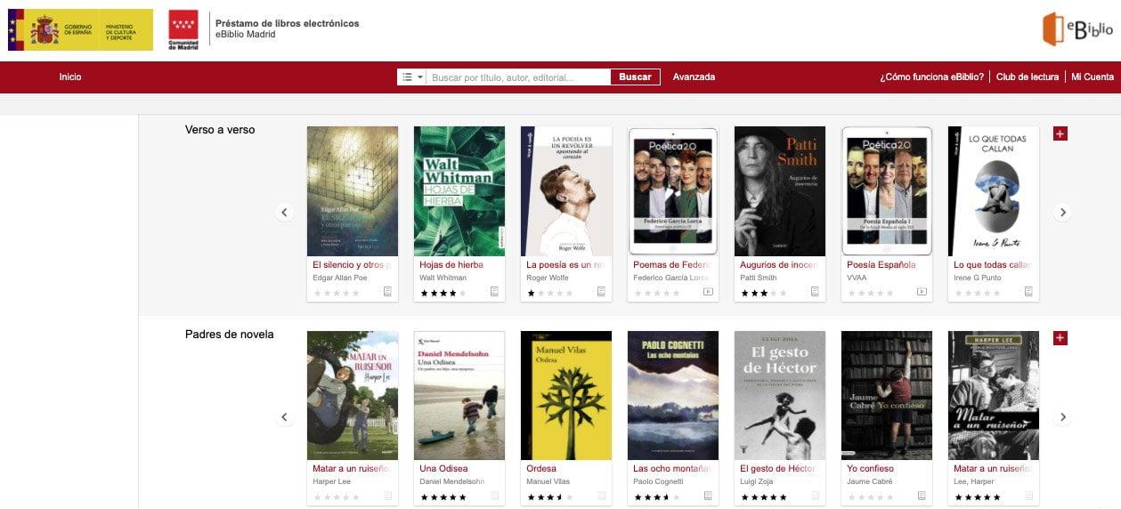 10.000 libros y 4.000 películas gratis en eBiblio - Madrid es Noticia
