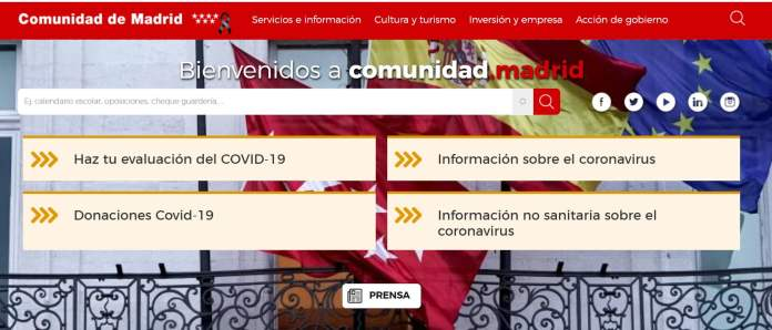 La Comunidad crea un 'chatbot' para dudas no sanitarias con relación al COVID-19 1