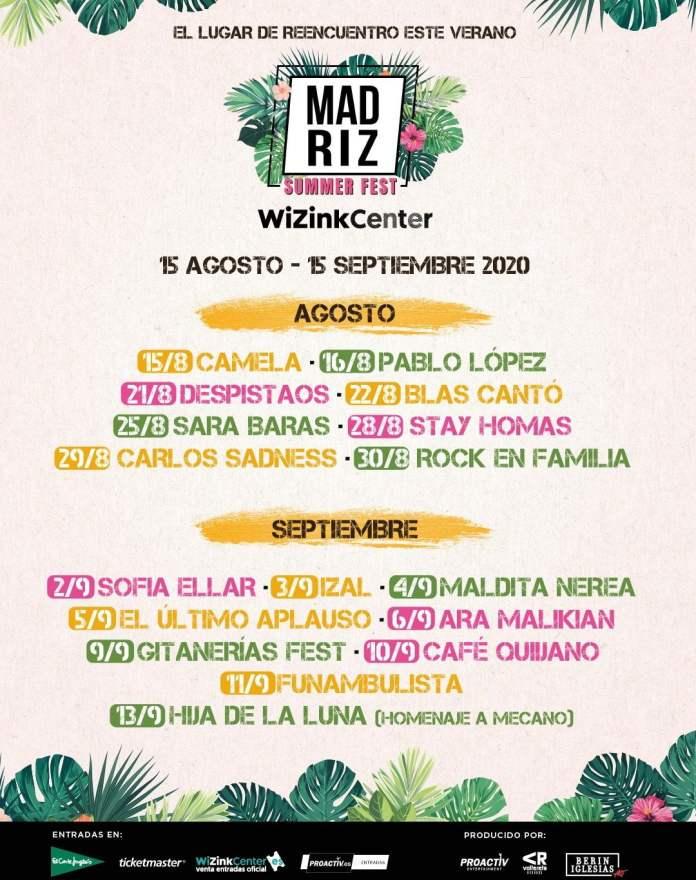 El ciclo de conciertos Madriz Summer Fest comenzará el 15 de agosto 1