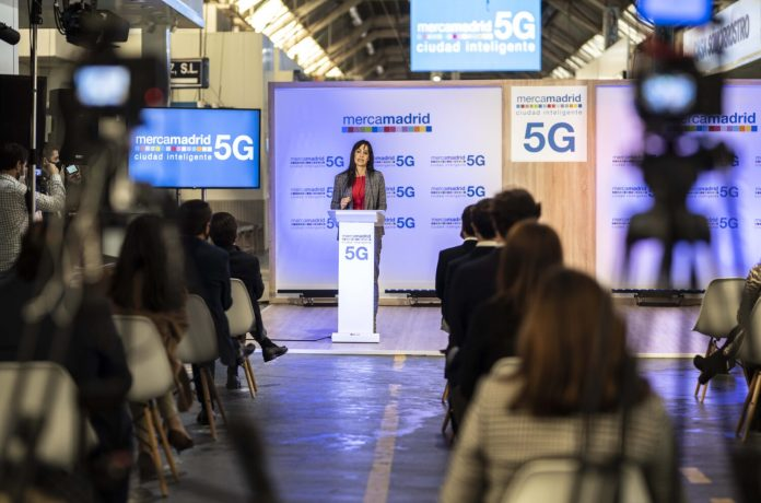 Mercamadrid inaugura el primer nodo 5G en un campo empresarial en España 1