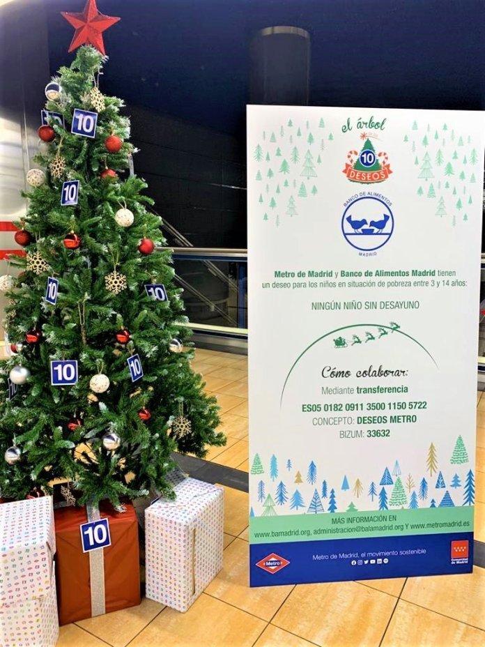 Un Metro, doce causas: un árbol de Navidad solidario en cada línea 11