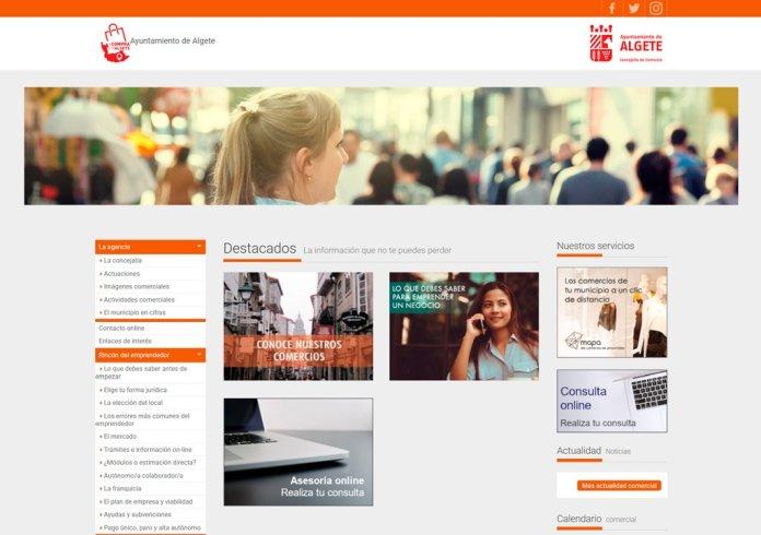 Arranca la plataforma de comercio virtual en Algete 2