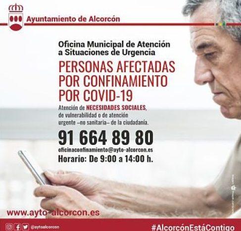 Alcorcón activa una oficina municipal de atención a los afectadas por el confinamiento 1