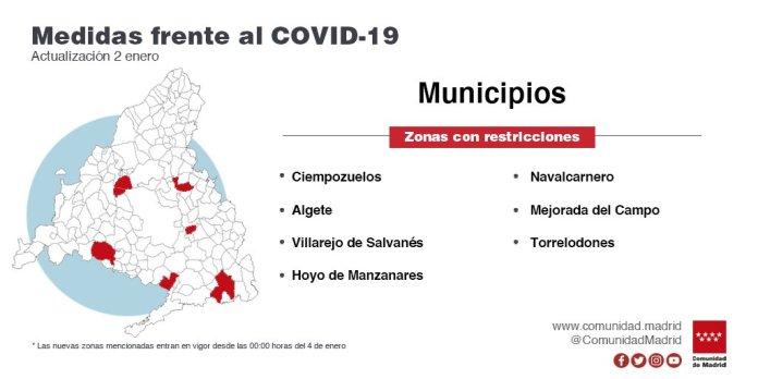 18 zonas de salud y 5 localidades confinadas desde este lunes 2