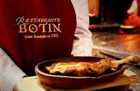 Plato del restaurante Botín
