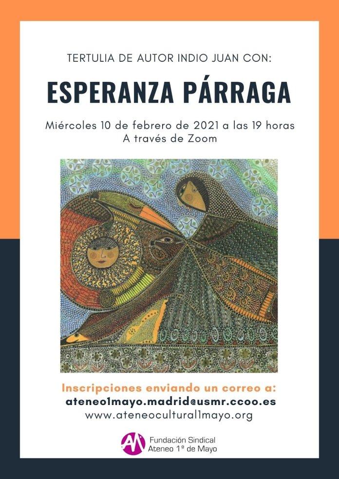 Esperanza Párraga participa en la Tertulia de Autor Indio Juan 2