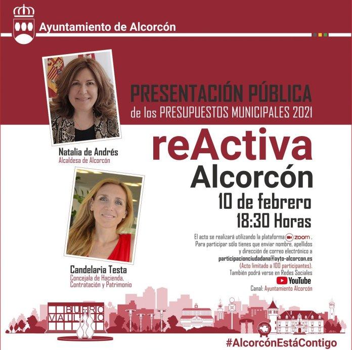 'ReActiva Alcorcón', un encuentro público online para presentar los Presupuestos Municipales 2021 1