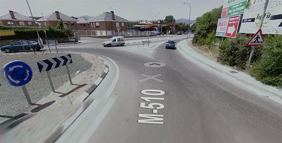 Cortada la carretera M-510 a la altura de Aldea del Fresno 2