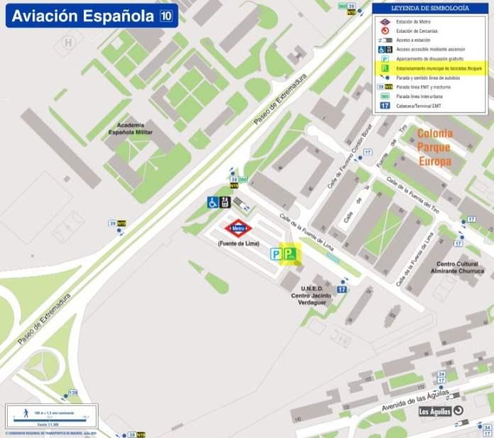 El aparcamiento disuasorio de Aviación Española entra en funcionamiento 1