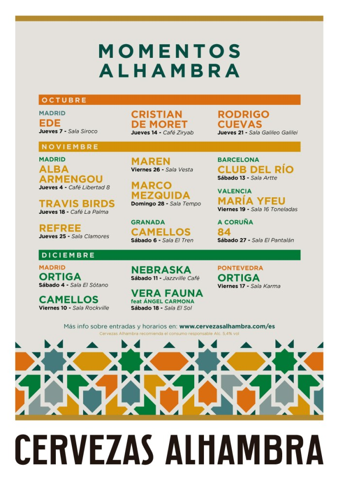 Momentos Alhambra ofrece un otoño de conciertos 2