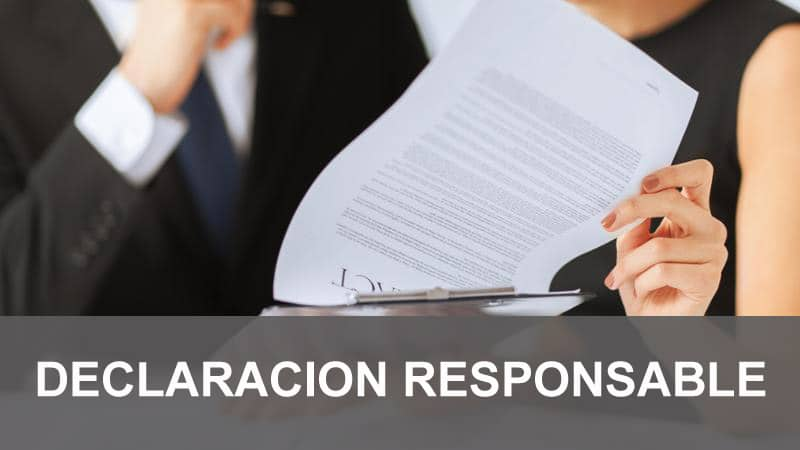 DECLARACION RESPONSABLE tramitacion de licencias de apertura y actividad