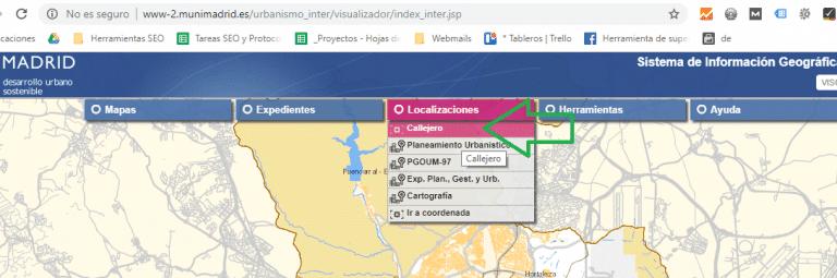 Visualizador Urbanistico Madrid