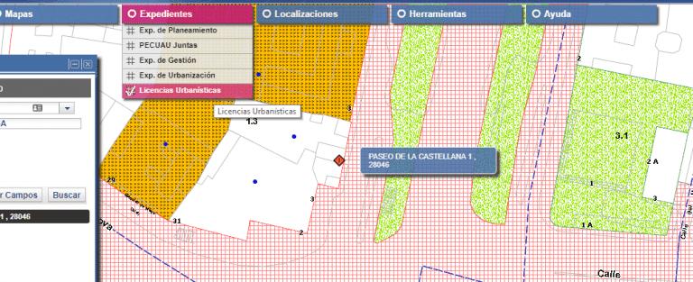 Visualizador urbanistico licencias