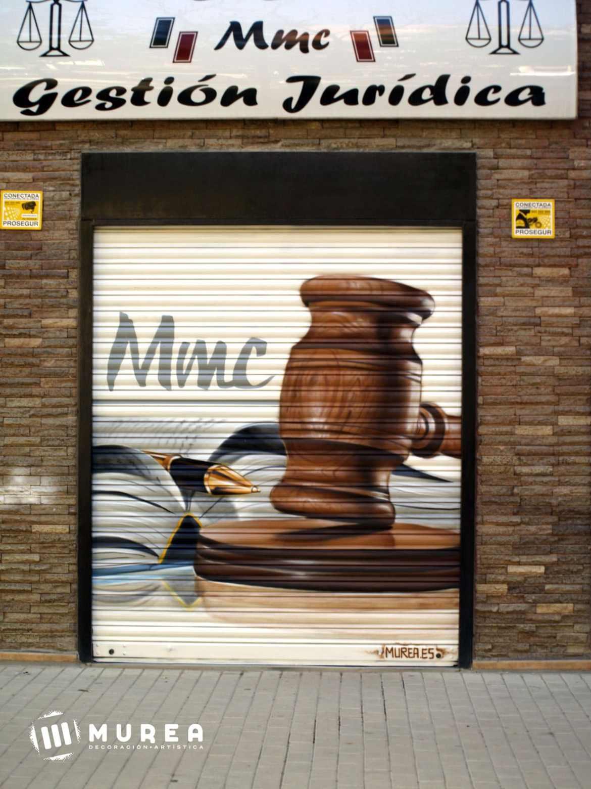 grafiti cierre local abogados