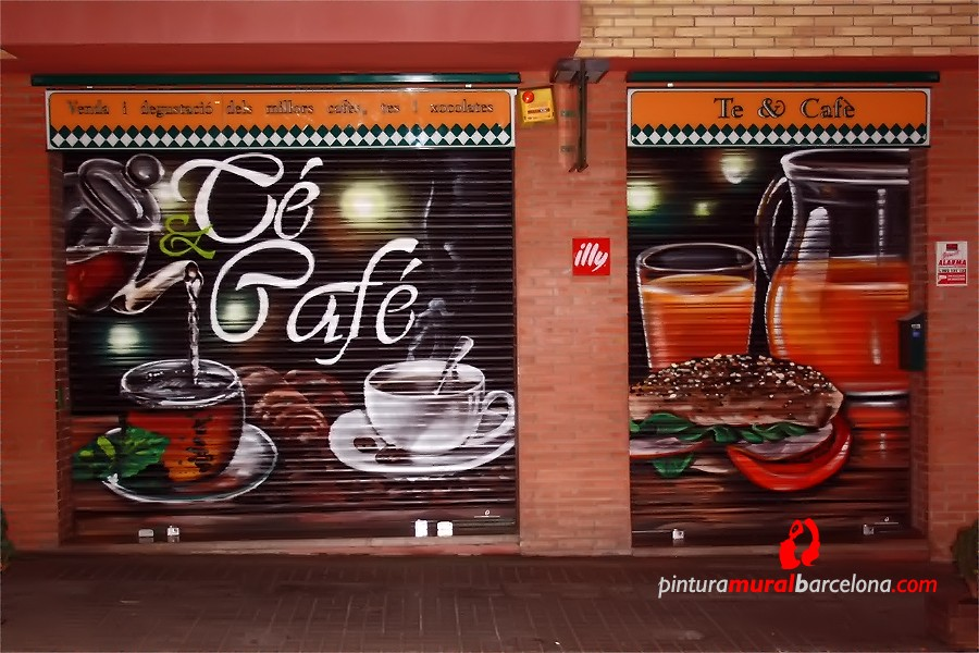 grafiti cierre local cafeteria