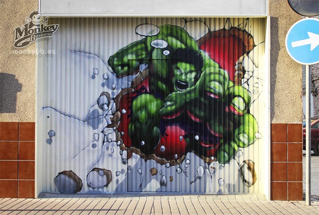 grafiti cierre local garaje