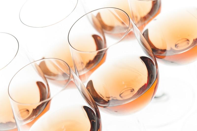 cinco vinos rosados