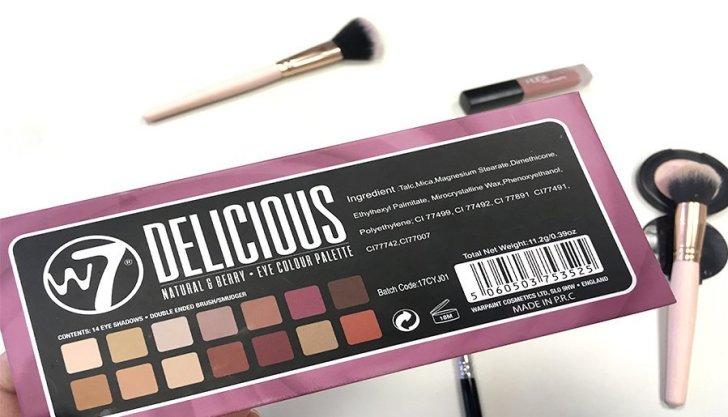 delicious w7 modern renaissance abh look makeup colores ingredientes