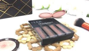 huda beauty lipstick labiales review opiniones bombshell flirt trendsetter venus labial liquido swatches nude 8