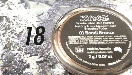 Asos calendario de adviento 2017 nude by nature natural glow loose bronzer