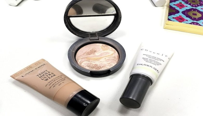 Neceser ideal de maquillaje neceser de maquillaje para principiantes productos en minitallas maquillaje tent idole ultra wear lancome cover fx primer