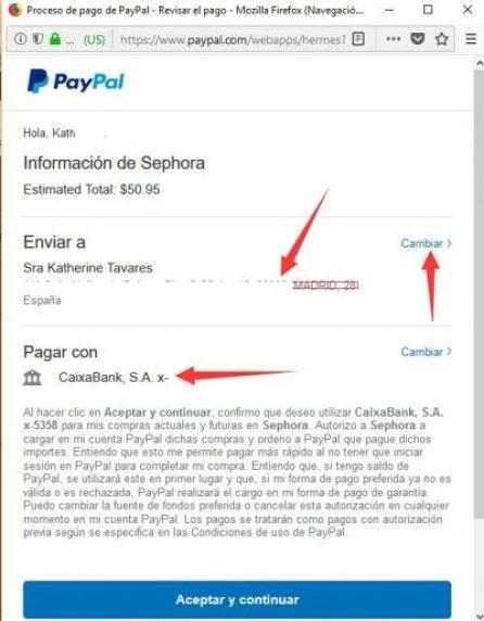 Paypal sephora como comprar en sephora estados unidos desde españa 2