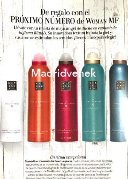 regalo de la revista woman gel de ducha rituals regalos revistas mayo 2020