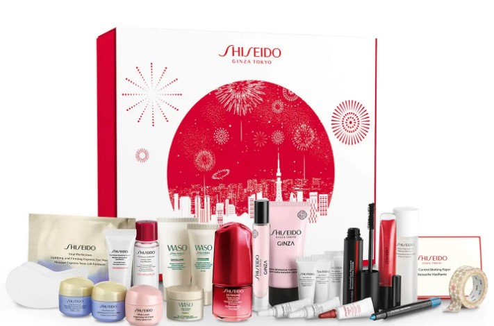 calendario de adviento de belleza 2021 calendario de adviento Shiseido 2021 comprar calendario de adviento maquillaje 2021