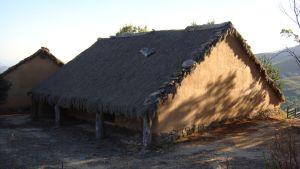 Vivienda reconstruida. Castro de El Raso