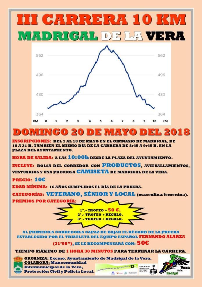 III Carrera 10 km - Madrigal de la Vera 2018