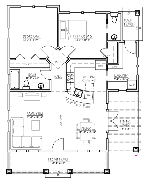 Back Porch Exposed Beams Interior Design Ideas