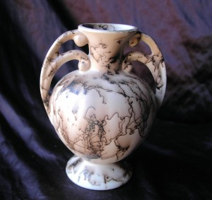 2 Handled Horse Hair Vase