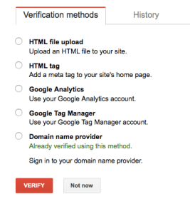 Site Verification Methods With Google