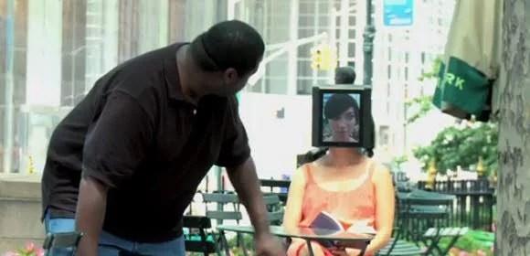 iPad Head Girl in New York City