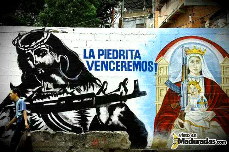 Violencia en venezuela calles Jesus armado