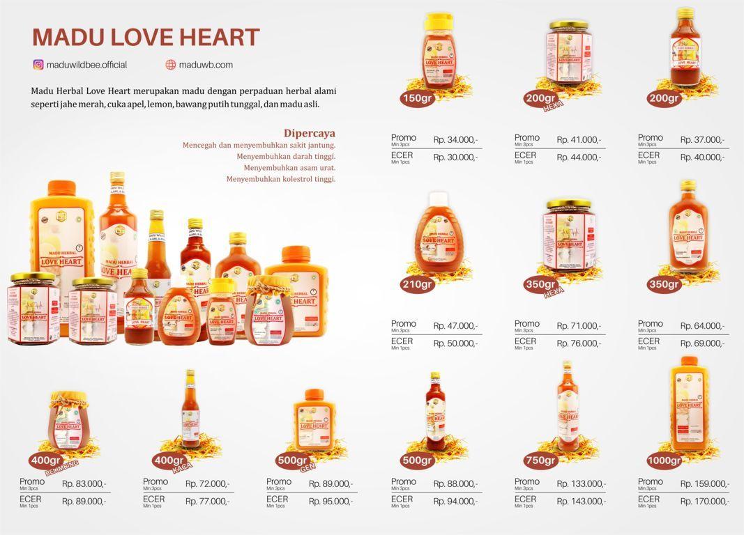 madu love heart wild bee