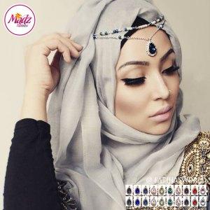 Madz Fashionz UK – Fatiha World Tear Drop Headpiece Gold Silver Finish
