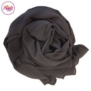 Madz Fashionz UK: Long Maxi Plain Chiffon Grey Muslim Hijabs Scarves Shawls