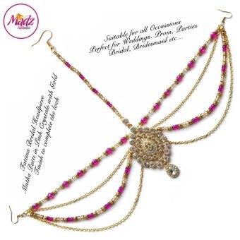 Madz Fashionz USA: Fatima Traditional Shocking Pink Bridal Chandelier Matha Patti