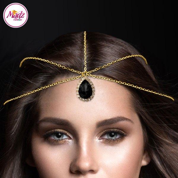 Madz Fashionz USA: Gold and Black Hair Jewellery Headpiece Matha Patti