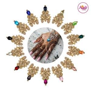 Madz Fashionz USA: Hennabyang Indian Bridal Hand chain Slave Bracelet Kundan Gold Silver all colours