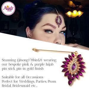 Madz Fashionz UK: Song178bird21 Hijab Pin Pink Hijab Jewels Stick Pins Gold Pink