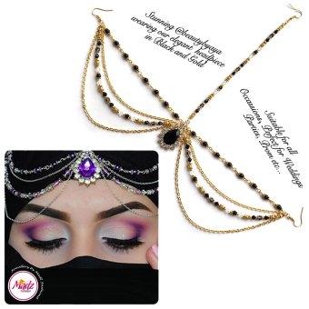 Madz Fashionz UK Beautybyaya Bridal Matha Patti Gold Black