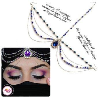 Madz Fashionz UK Beautybyaya Bridal Matha Patti Silver Royal Blue