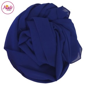 Madz Fashionz UK: Long Maxi Plain Chiffon Royal Blue Muslim Hijabs Scarves Shawls