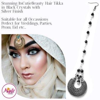 Madz Fashionz UK: ItsCutieBeauty Kundan Tikka Headpiece Headchain Maang Tikka Silver Black