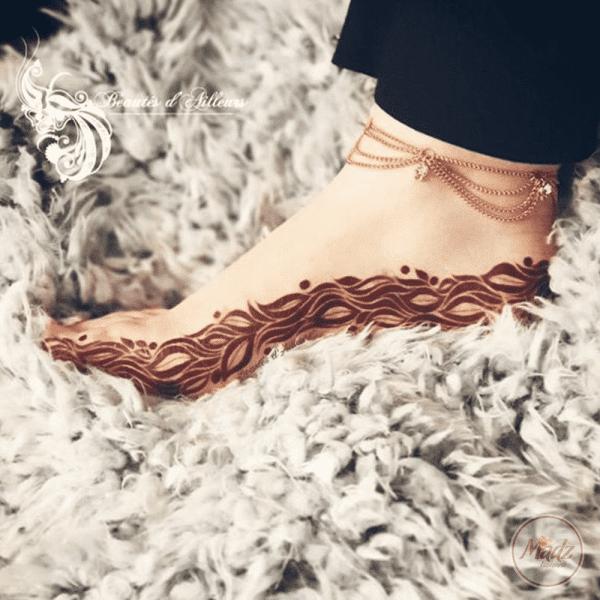 Madz Fashionz UK Beautés d'Ailleurs Henné Payal Anklet Chain Gold silver white indian pakistani jewellery
