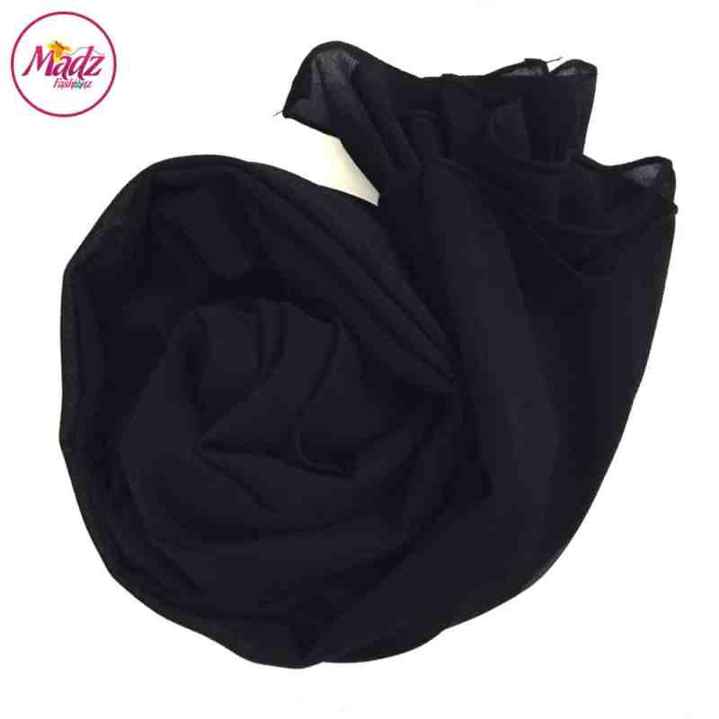 Long Plain Chiffon Black Muslim Hijabs Scarves Shawls